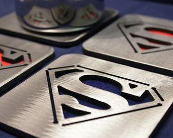 Superman Coasters Set of 4, steel