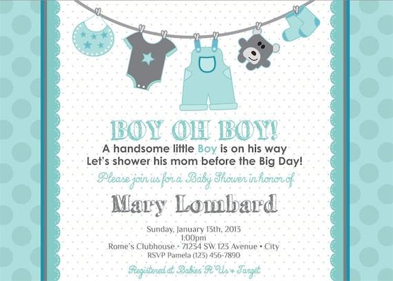 Boy Baby Shower Invitation Baby Boy Shower Invitation Boy