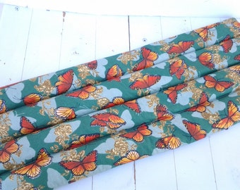 Thermal Therapy Rice Bag Monarch Butterflies on Green Background
