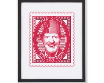 JUST LIKE THAT - 50 x 40cm Tommy Cooper Stamp Print