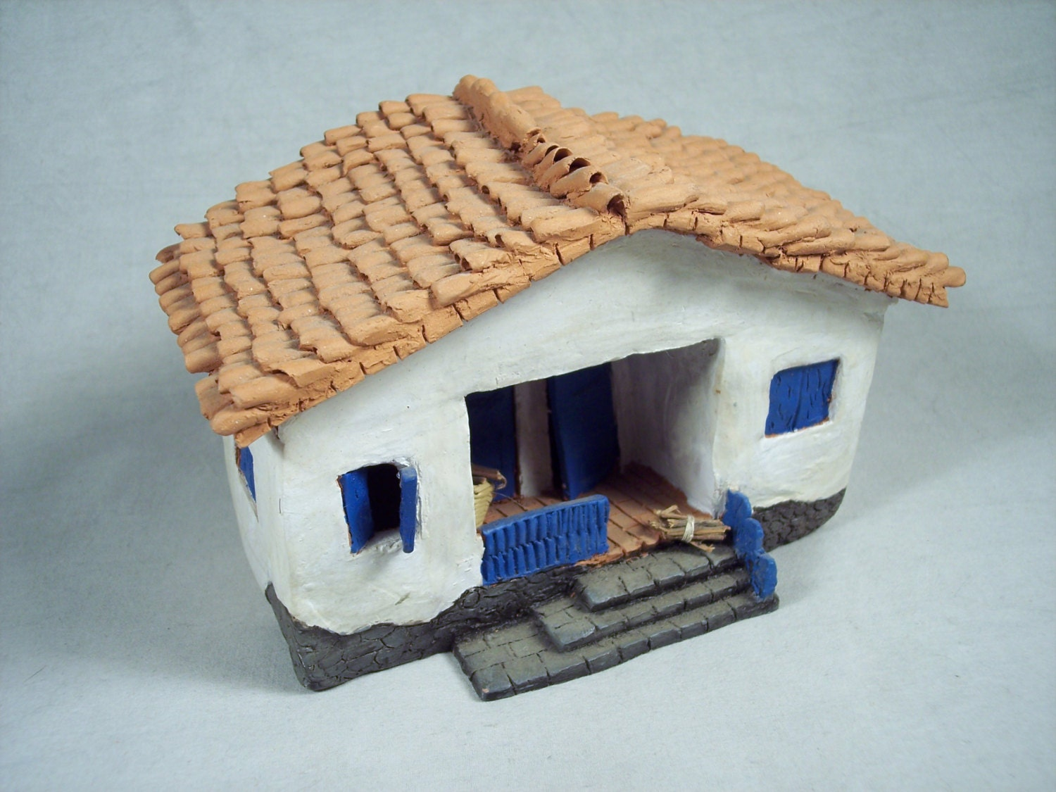 Making a model clay house