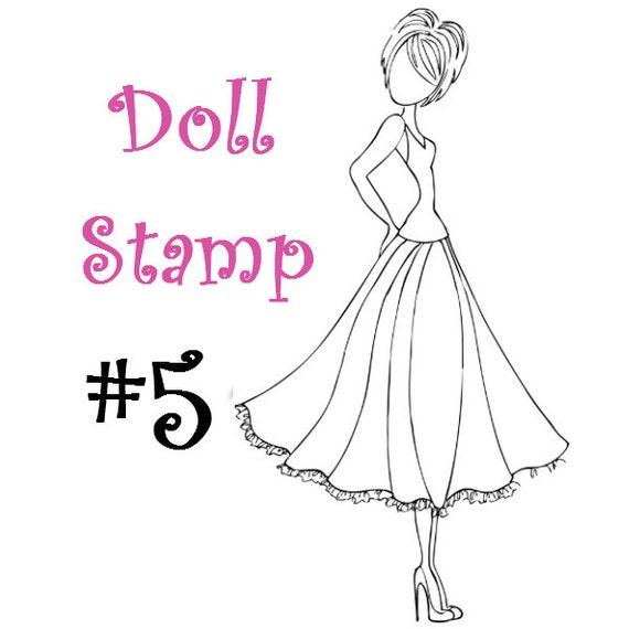 Prima Doll Stamp - Julie Nutting - Large Rubber Stamp - Cling Mount - READY TO SHIP - nr5