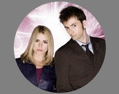 "Doctor Who 1.5"" Button - Tenth Doctor and Rose Tyler"