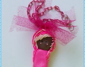 Pink Scene Chibi Charm Necklace