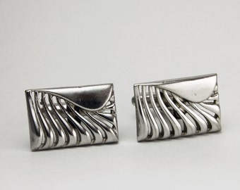 Elegant Silver Vintage Men's Cufflinks