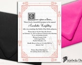 Light Pink-Once Upon A Baby- Shower Invitation by Pixiebola Designs  (Design Fee)