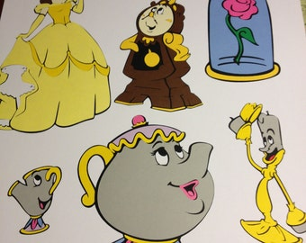 6 Beauty and the Beast die cuts