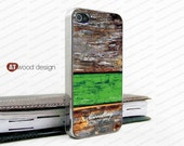 IPhone 4 case light silvery iphone 4 case  old green wood texture unique Iphone case design iphone 4s case iphone 4 cover
