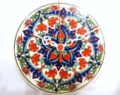 Wall Clock Valentines day gift with Anatolian Flower pattern