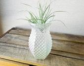vintage glass vase iridescent - hoosier glass company