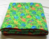 Baby/Toddler Blanket - Minky Baby Blanket - Beach Blanket - Rainforest Baby Blanket - Minky Baby Blanket - Green