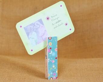 Jumbo Wood Clothespins, Photo Holder, Photo Clip