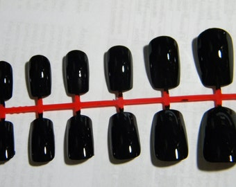 Louboutin Inspired Black Press On Nails