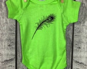 Peacock Feather Baby Bodysuit