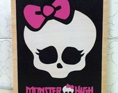Wooden Monster high  wall art
