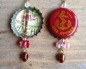 Anchor Brewery Beer Bottle Cap Earrings - Ready for the Holidays