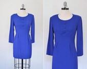 Vintage 1980s Dress --  80s Mini Dress -- It's Electric Dress