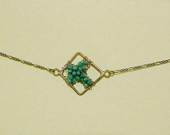 Emerald Cross Necklace