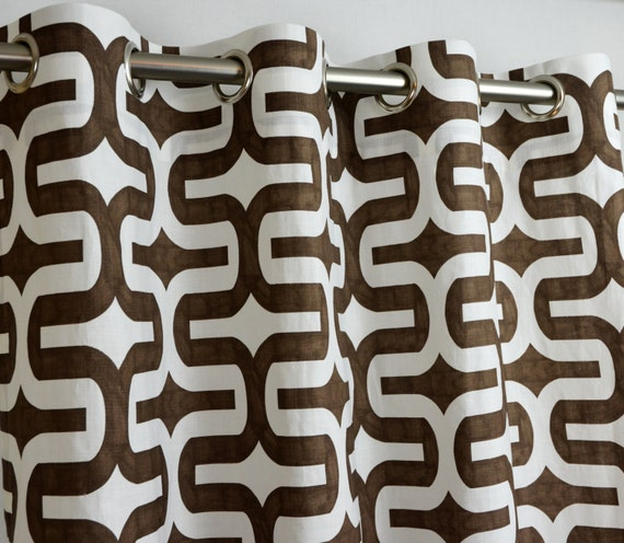 Items similar to Brown White Contemporary Geometric Embrace ...