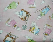 Bunnies by the Bay on Pink - Fabric By The Yard