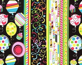 Party Time Birthday Celebration Multi - Fabric By The Yard