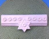 Ceramic Child's Menorah Unpainted -11 inches long-ready to paint, hand made, Hanukkah