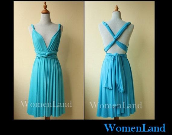 Light Gray Bridesmaid Dresses Knee Length Soft Tulle: Items Similar To Light Blue Knee Length Infinity Dress