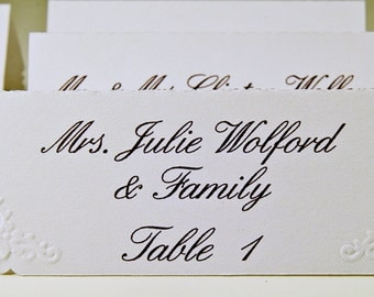 Wedding Name Place Cards (25)- Personalized & Custom Placecard,  Perfect for Weddings or  Special Occasions