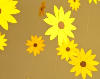 Nursery Decor Sunflower Mobile - Paper Mobile for Nursery, Baby or Kids Decor