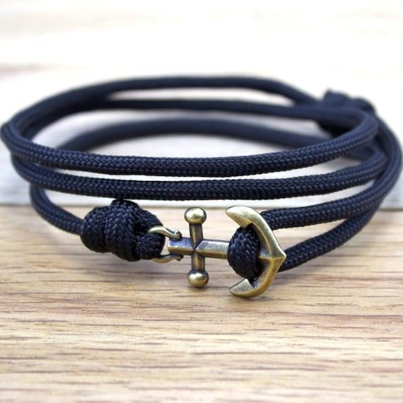 anchor charm bracelet nautical braceelet by designedturning