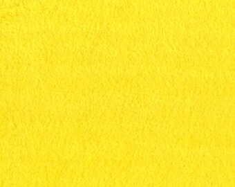 Yellow Solid Classic Fleece Fabric, 60 Inches Wide and Sold By The Yard