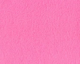 Pink Solid Fleece Premium Fabric, 60 Inches Wide and Sold By The Yard