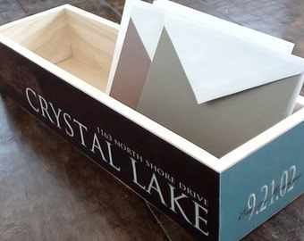 Personalized Wooden Storage Box & Mail Sorter// Perfect Housewarming Gift// Bridesmaid and/or Groomsmen Gift