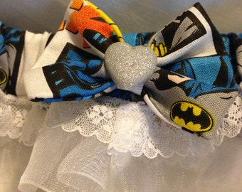 Custom Batman comic book prom or we dding garter