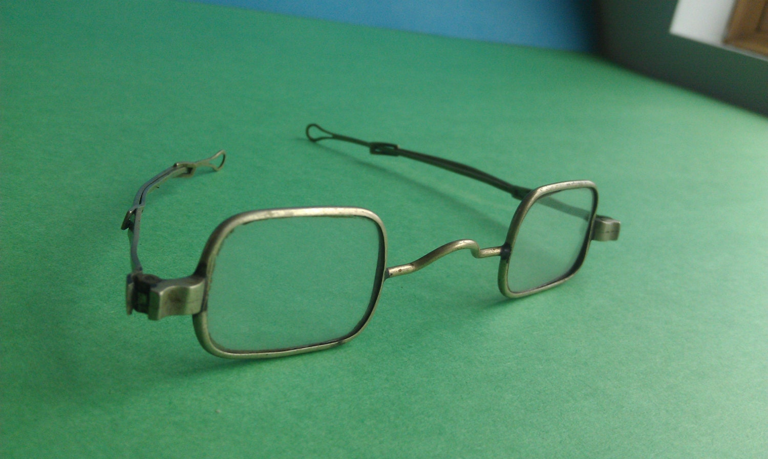 Antique Straight Temple Square Eyeglasses by energyforthesoul2
