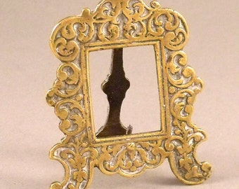 Antique Miniature Brass Embossed Frame