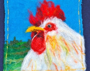 Rooster Felted Wall Hanging