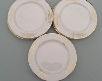 Lifetime China Homer Laughlin Edwin Knowles Prairie Gold Pattern - Set of 4 Bread and Butter Plates (2 sets available)