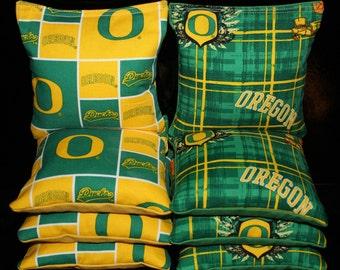 University of OREGON DUCKS Cornhole Bean Bags 8 Corn Hole Bean Bags ACA Regulation