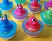 "Children's Soap "" Monster Duck Cupcake Soap"" Christmas Gifts, Stocking Stuffers, Party Favors, Birthday Gifts, DAT, OFG Team,  SKIRT"