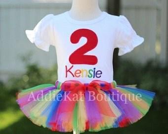PERSONALIZED Rainbow Birthday Tutu Outfit
