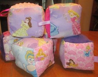 Disney Princess themed soft baby blocks
