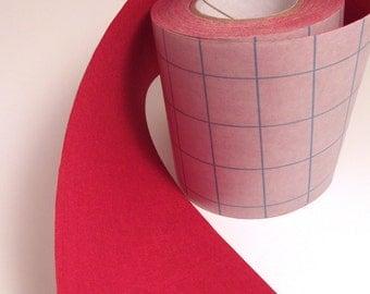 5' Scarlet Red Adhesive Fabric Book Cloth Tape DIY Journal Bookbinding Supplies Book Repair Tape