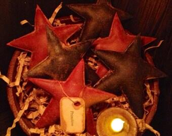 Primitive Stars Bowl Fillers Patriotic Burgundy and Navy