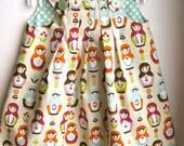 Matryoshka babushka russian dolls baby girl dress