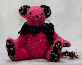 "OOAK Meece Amis Artist Mouse by Tabbyclouds ""Mary"" (Mohair Collector Bear)"