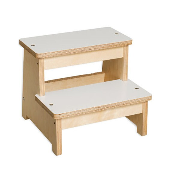 Items similar to modern children s step stool wooden