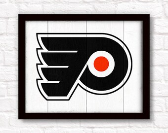 Philadelphia Flyers home decor- rustic handmade painted wood sign - Boys room or Man cave Philadelphia Flyers wall art Fathers Day gift