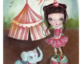 """Art print of my new collection...""""candy circus"""""""