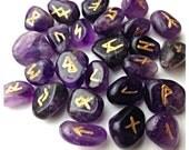 Handmade Amethyst Runes
